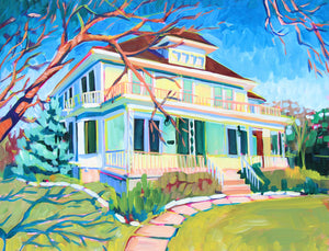 Yellow Wrap Around Porch - Sari Shryack - 18x24""
