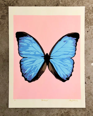 Blue Morphie (pink) - Landry McMeans - 18x24""