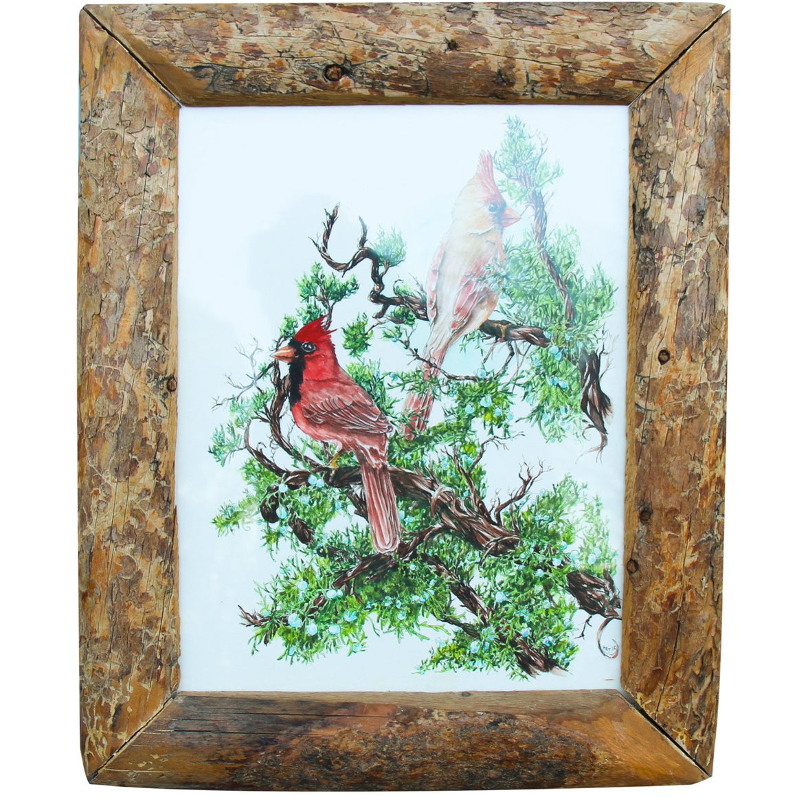 Cardinals in Juniper - Hallie Rose Taylor - 11x14""