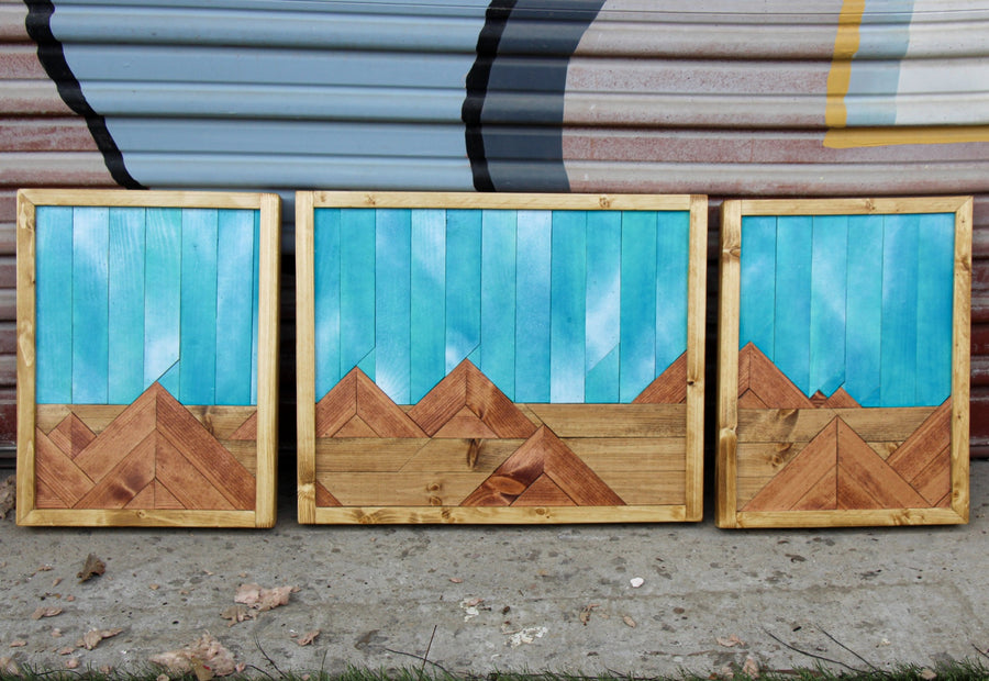 Desolate Beauty Triptych- Raymond Allen - 40.5x14.5""