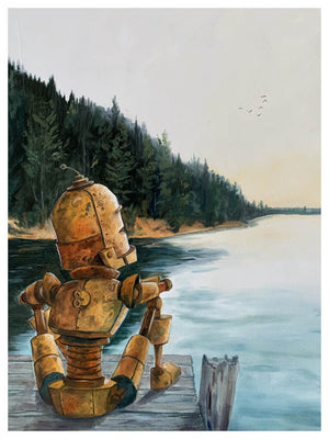 Dock of the Bay Bot - Print by Lauren Briere