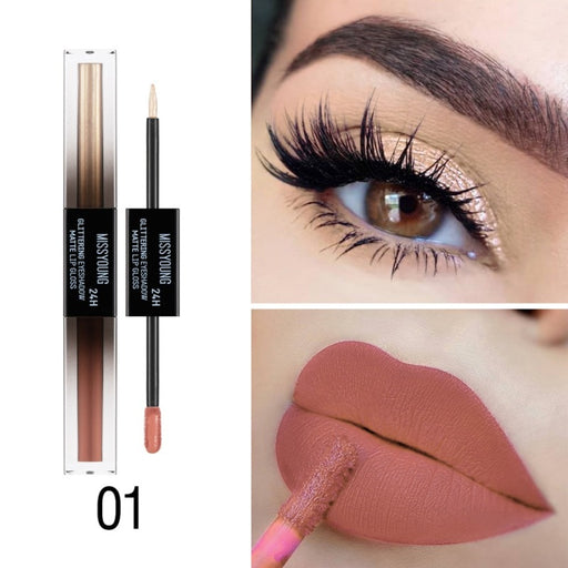 2 In 1 Lip Gloss Eyeshadow Set