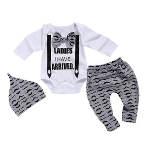 Ladies I Have Arrived 3 Piece Bowtie Clothing Set