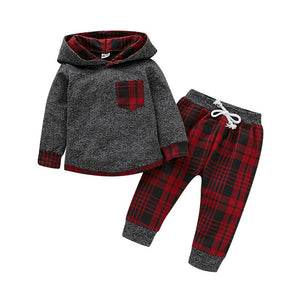 Infant 2 Piece Plaid Outfit Set