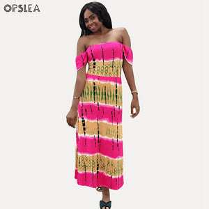 Opslea African Print Dress