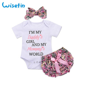Daddy's Girl Mommy's World Clothing Set