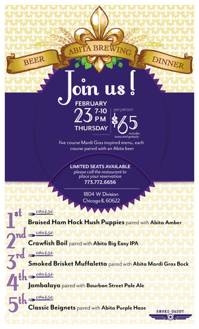 Abita Brewing Beer Dinner