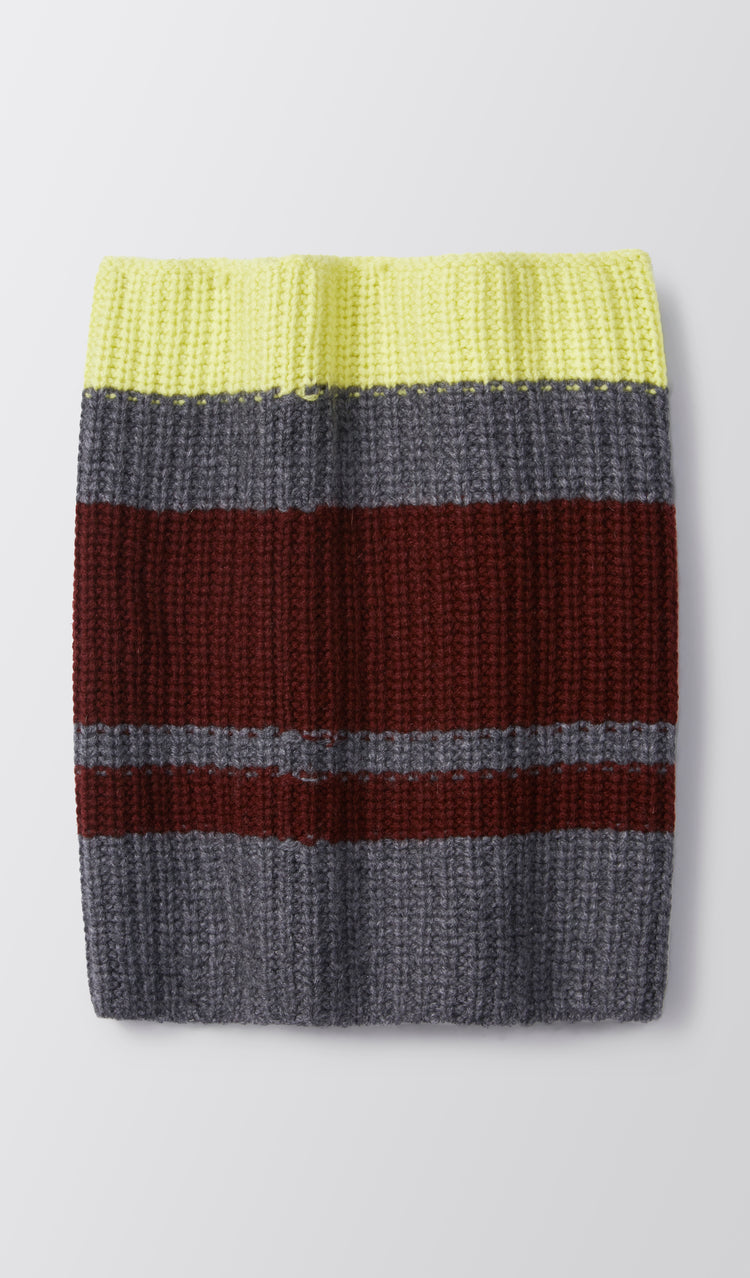 Vera Striped Cashmere Snood in Grey