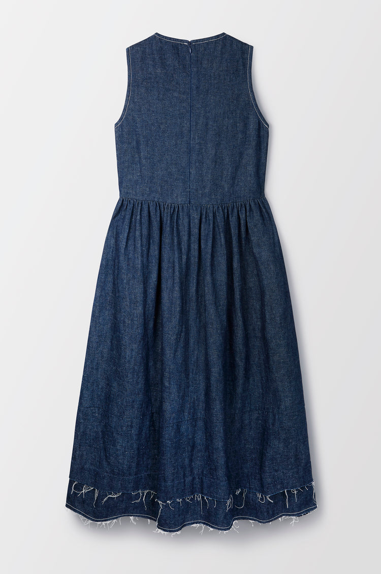 Evelyn Raw Edge Organic Hemp & Cotton Sleeveless Dress