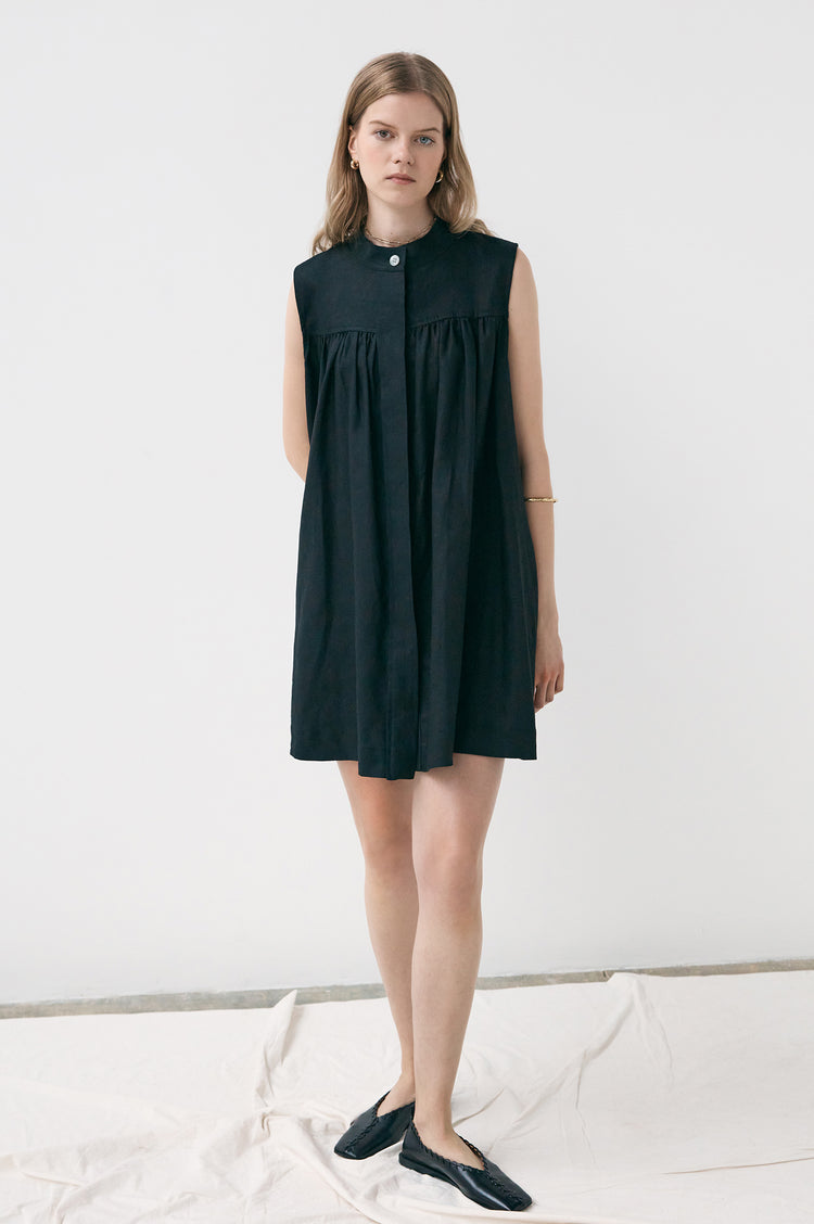 Grace Linen Sleeveless Tunic Dress