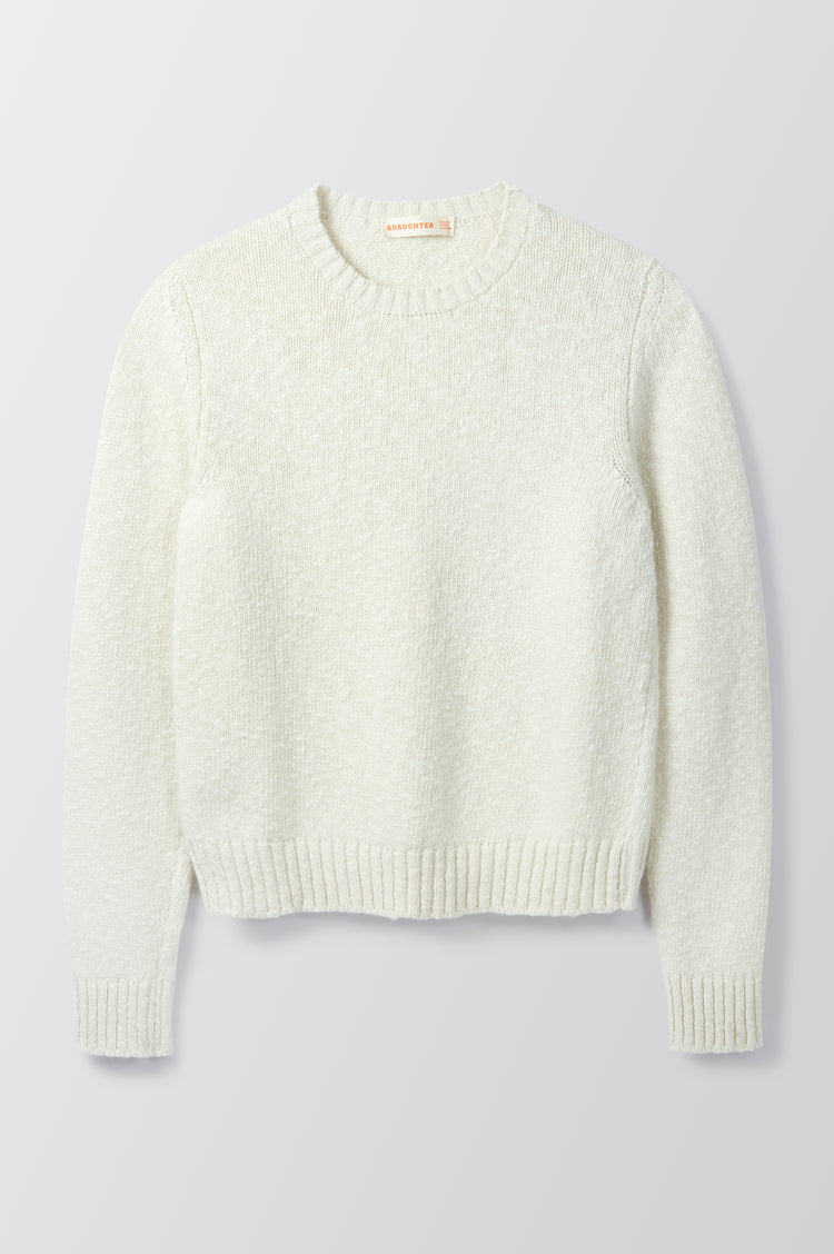 New In! Sorcha Bouclé Crewneck Slub in Ecru