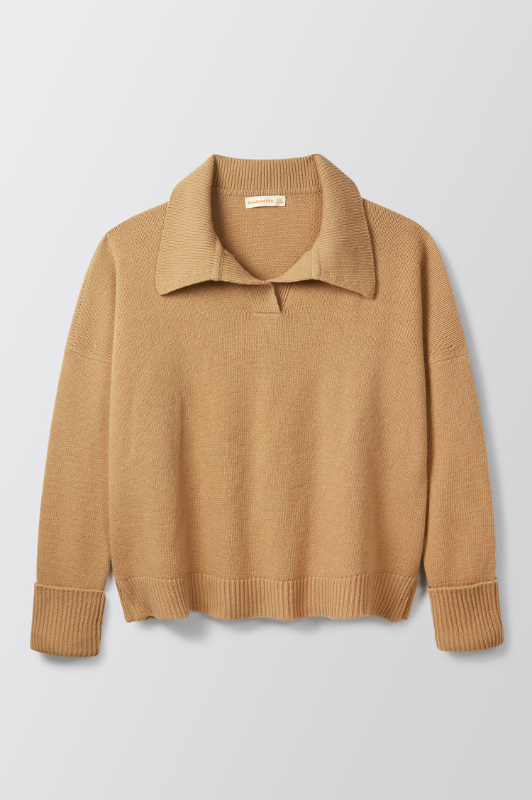 New In! Quinn Collared Knit in Camel