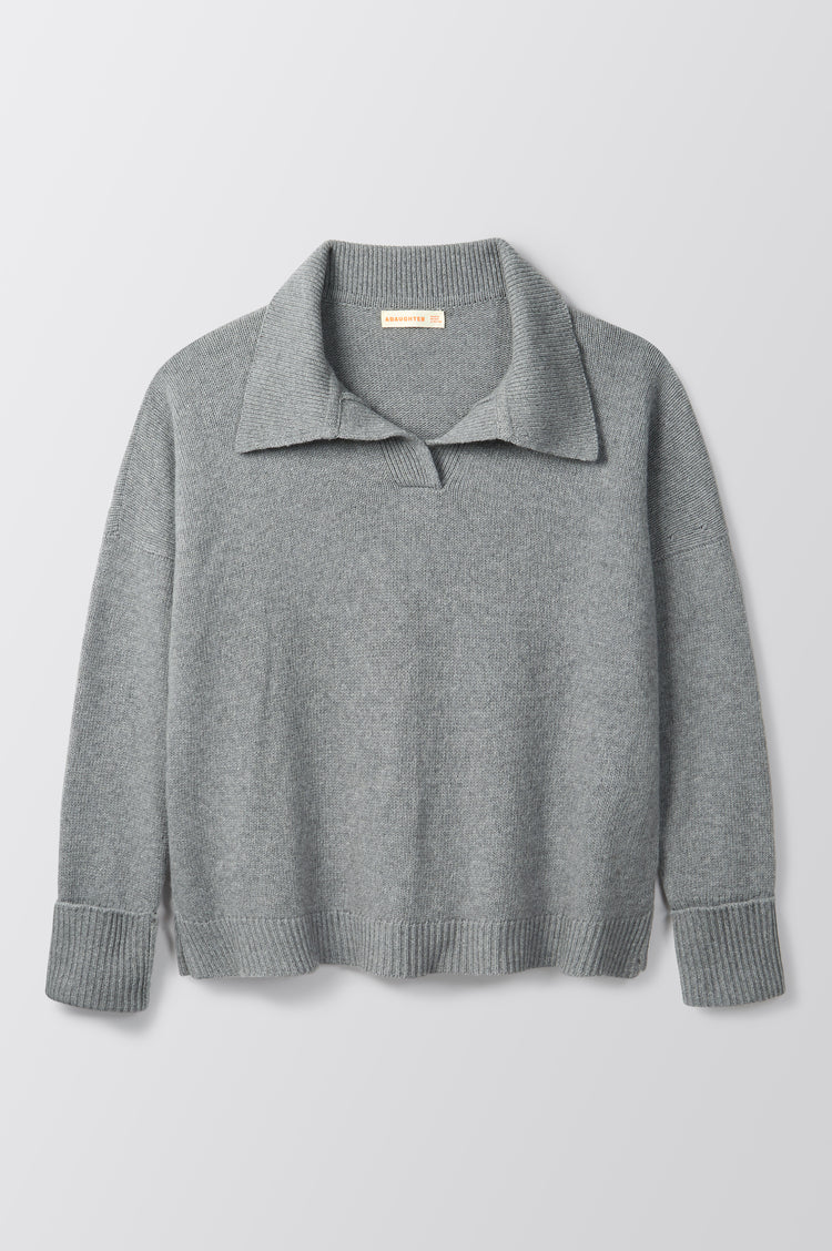 New In! Quinn Collared Knit in Grey
