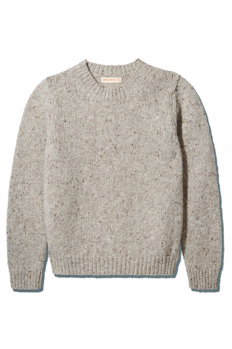 Back In Stock! Arden Donegal Crewneck in Light Grey