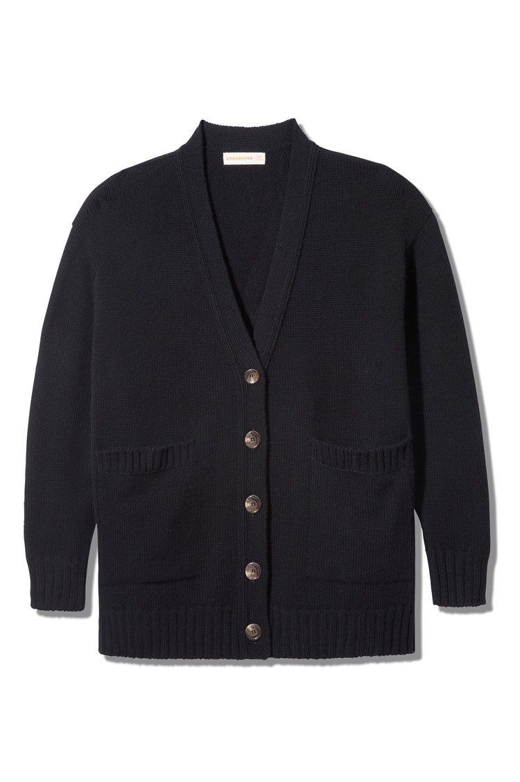 Tara Slouch Cardigan in Black