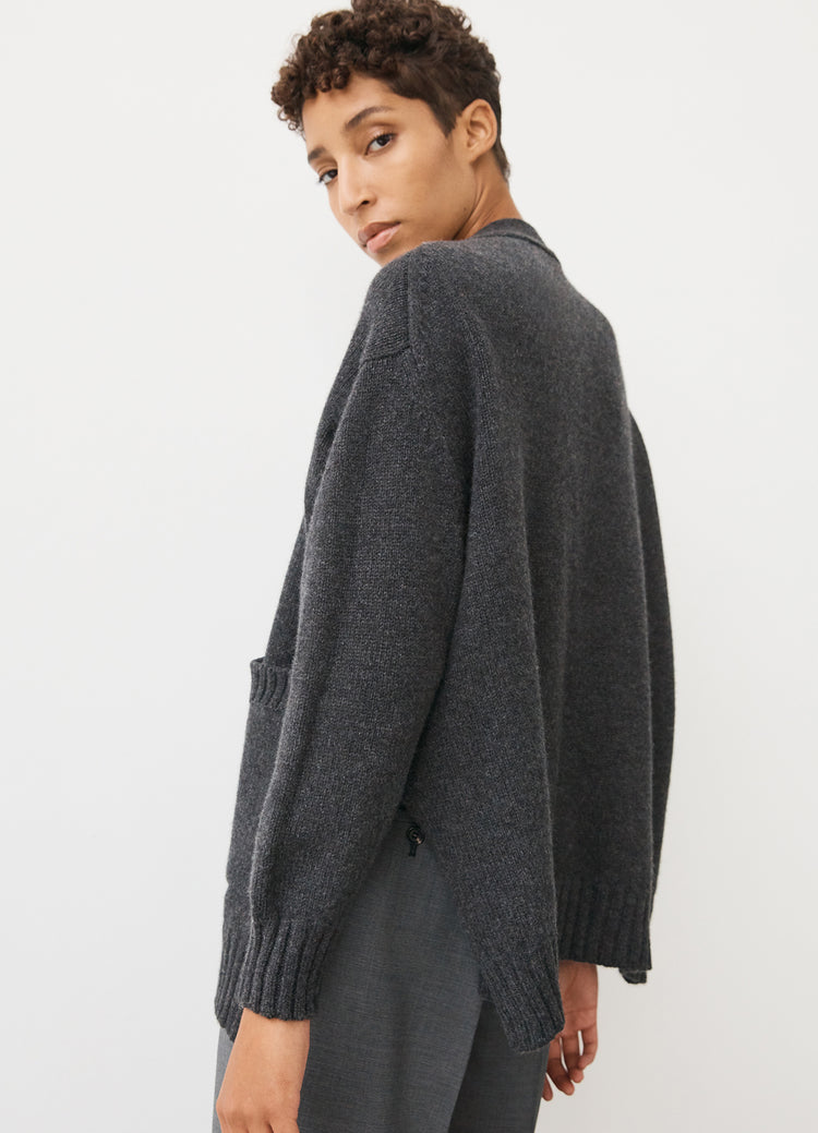 Tara Slouch Cardigan in Charcoal