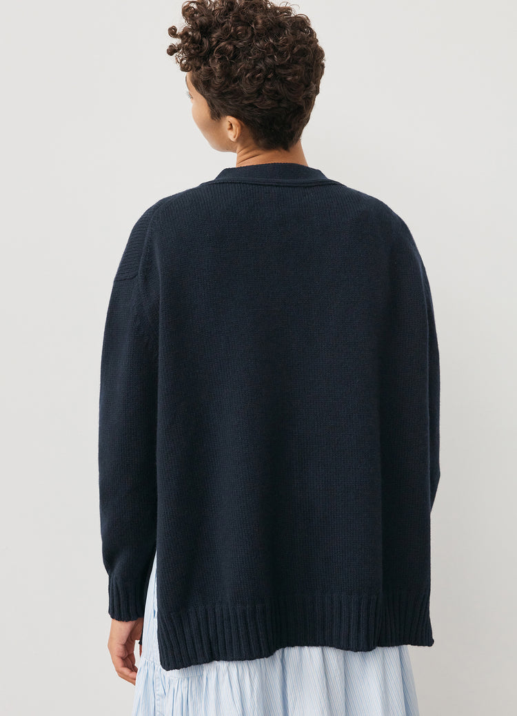 Tara Slouch Cardigan in Navy
