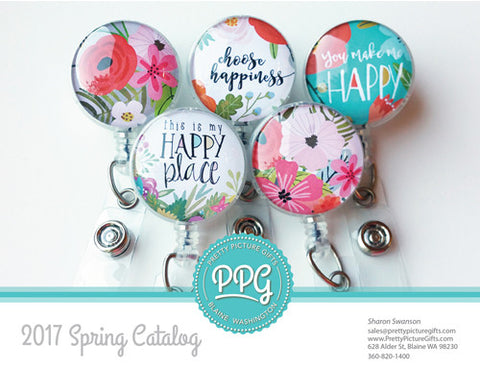 Cute Badge Reels by Pretty Picture Gifts