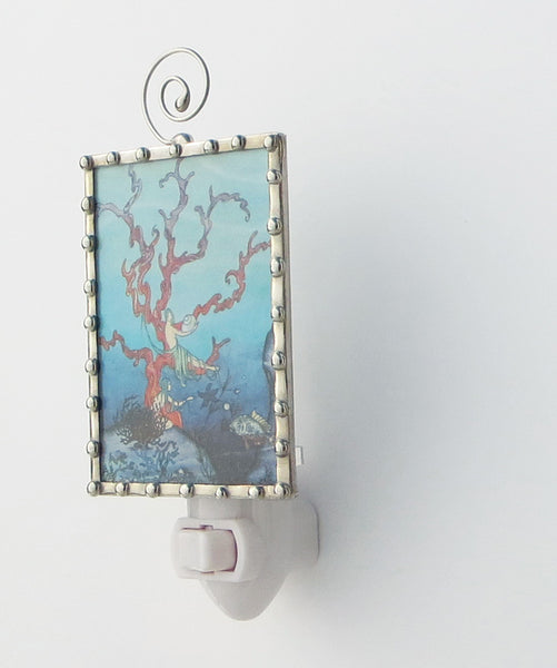 Red Coral Mermaid Night Light