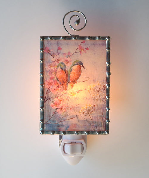 Cherry Blossom Birds Night Light