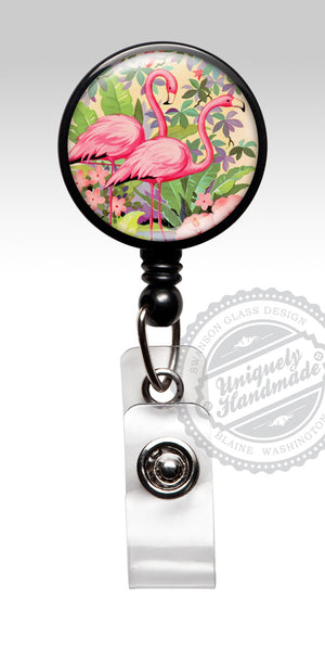 Flamingo Name Badge Reel