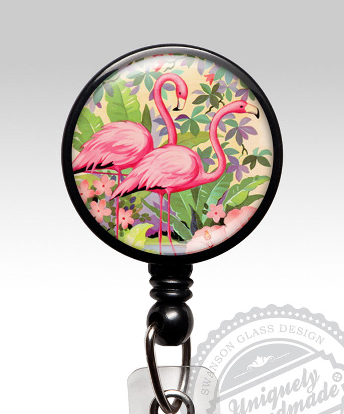 Flamingo Name Badge Holder