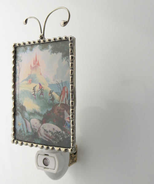 Fairy Castle Child Night Light Fairytale Nightlight side view