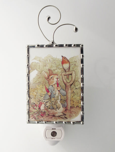Peter Rabbit Glass Night Light By Pretty Picture Gifts