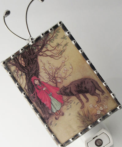 little red riding hood night light by pretty picture gifts