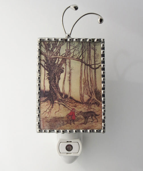 Front view of Night light Little Red Ridinghood  by Pretty Picture Gifts
