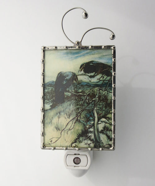 front view of Crow Night light by Pretty Picture Gifts in Blaine WA