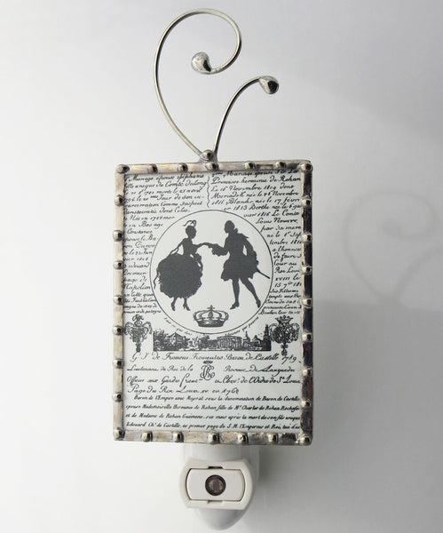 French Black and White Night Light Lighting by Pretty Picture Gifts
