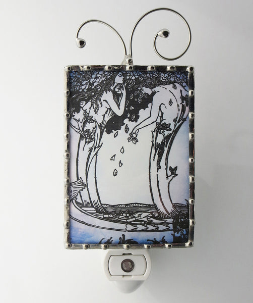Art Nouveau Bookplate Night Light Lighting by Pretty Picture Gifts