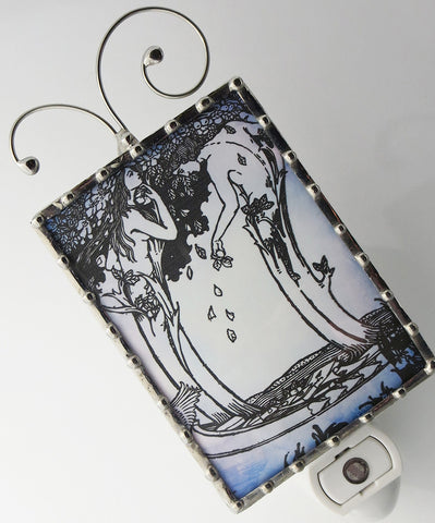 Art Nouveau Bookplate Night Light by Pretty Picture Gifts