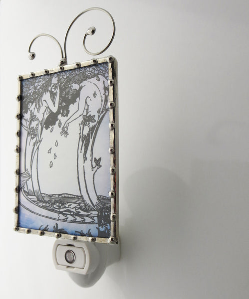 Art Nouveau Booklover Bookplate Night Light by Pretty Picture Gifts