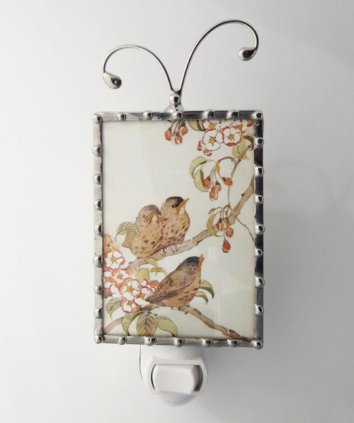 Vintage Bird Night Light Cherry Blossom Nightlight