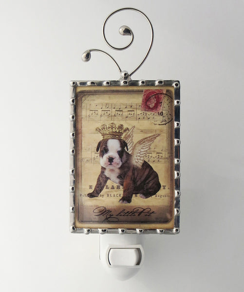 Shabby Chic Puppy Night Light Dog Nightlight