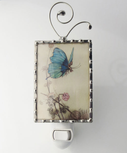 Blue Butterfly Fairy Night Light Butterfly Nightlight