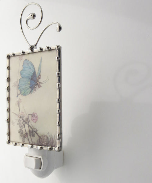 Blue Butterfly Fairy Night Light Butterfly Nightlight side view