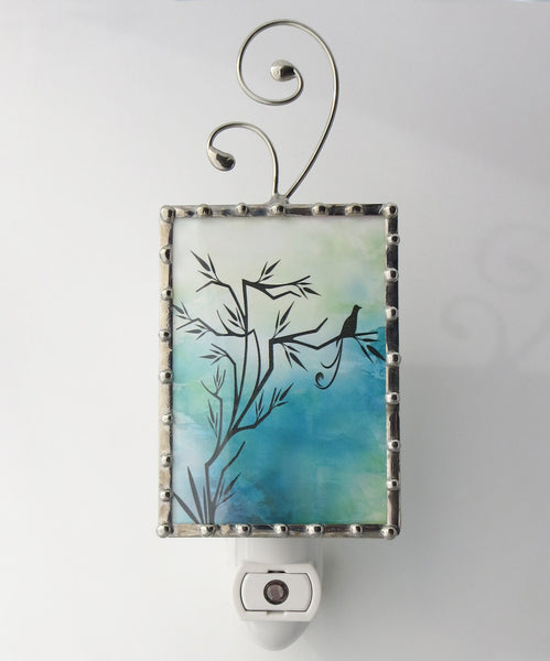 Blue Bird of Happiness Night Light Bathroom Lighting by Pretty Picture Gifts