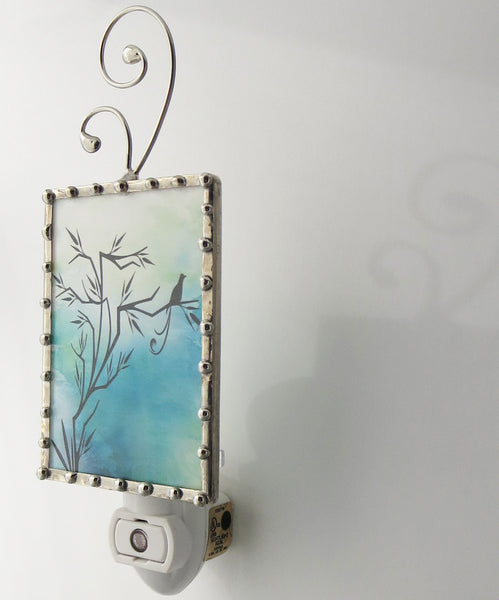Blue Bird of Happiness Night Light Hallway Lighting by Pretty Picture Gifts