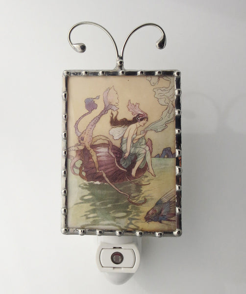 Art Nouveau Nautilus Night Light by Pretty Picture Gifts