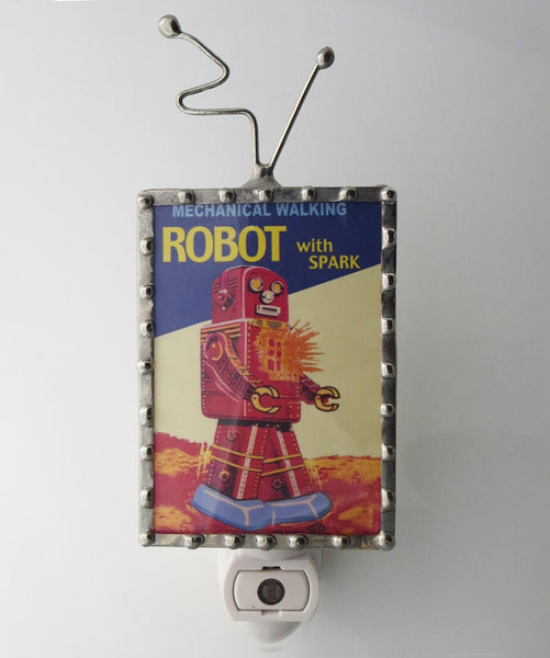 Sparky the Robot Night Light Kids Lighting by Pretty Picture Gifts