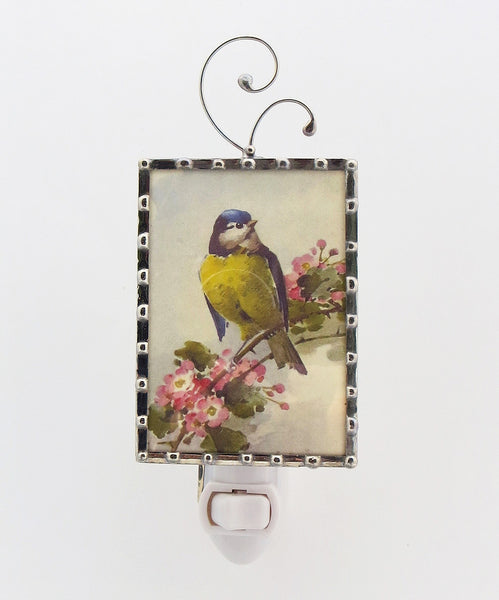 Vintage Yellow Bird Night Light by Pretty Picture Gifts