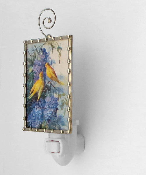 Canary Lilac Flower Blossom Night Light Nightlight by Pretty Picture Gifts