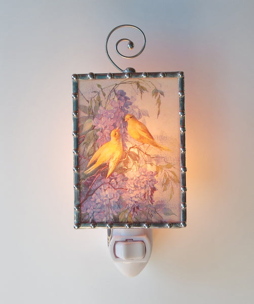 Canary Lilac Flower Blossom Night Light Hallway Lighting by Pretty Picture Gifts