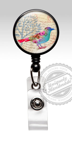 Bird Retractable Badge Holder - Rn Carabiner Id Badge Stethoscope ID Tag 485