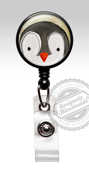 Penguin Nurse Badge Holder - Christmas Holiday Retractable Badge Holder 503