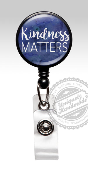 Kindness Matters Retractable Badge Holder - Inspirational Badge Employee Recognition Gift 528