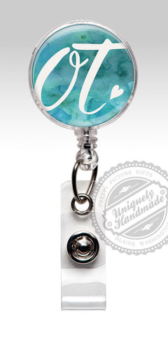 Occupational Therapist Retractable Badge Holder - O T Badge Reel Staff Gift 529